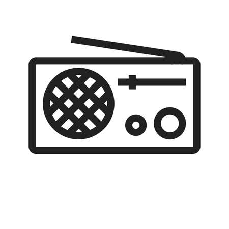 Radio vector image to be used in web applications, mobile applications and print media. Illusztráció