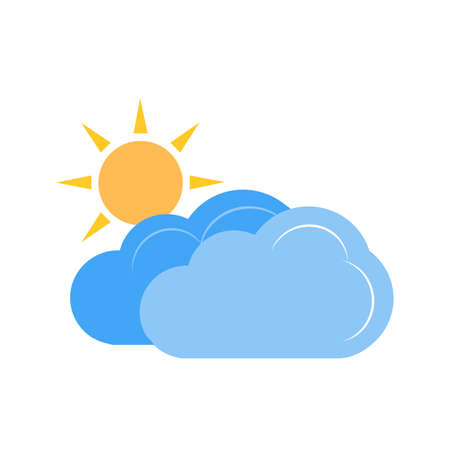 partly: Partly Cloudy vector image recommended for use on web applications, mobile applications, and print media.