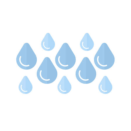 Rainy vector image recommended for use on web applications, mobile applications, and print media.