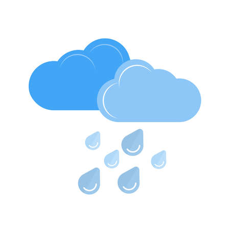 Heavy Rain vector image recommended for use on web applications, mobile applications, and print media. Illustration