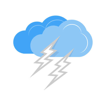 Lightning vector image recommended for use on web applications, mobile applications, and print media.