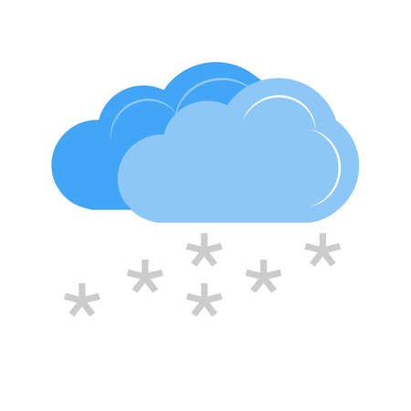 Light Snowing vector image recommended for use on web applications, mobile applications, and print media.