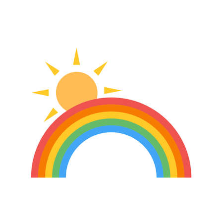 Rainbow  vector image recommended for use on web applications, mobile applications, and print media.
