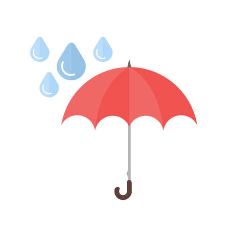 Umbrella with rain vector image recommended for use on web applications, mobile applications, and print media. Иллюстрация