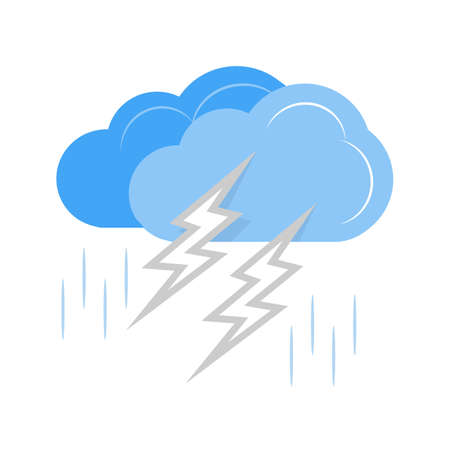 Thunderstorm vector image recommended for use on web applications, mobile applications, and print media. Ilustração
