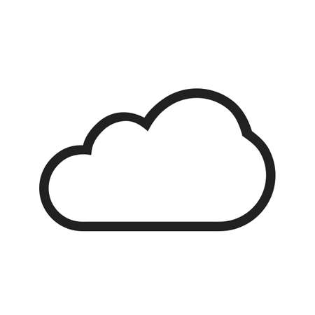 Single Cloud vector image to be used in web applications, mobile applications, and print media. Illustration