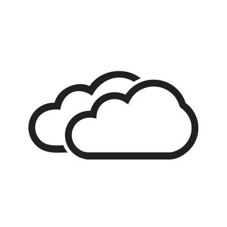 Two Clouds-vectorafbeelding voor gebruik in webapplicaties, mobiele applicaties en gedrukte media. Stock Illustratie