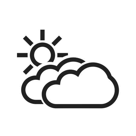 condensation: Partly Cloudy vector image to be used in web applications, mobile applications, and print media. Illustration