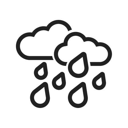 Heavy vector beeld Regen om te worden gebruikt in web applicaties, mobiele toepassingen, en gedrukte media. Stock Illustratie