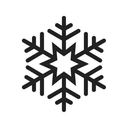 print media: Snowflake vector image to be used in web applications, mobile applications, and print media.