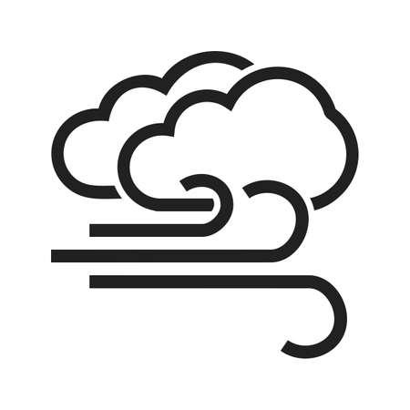 image winderig en bewolkt vector te worden gebruikt in webapplicaties, mobiele applicaties en gedrukte media.