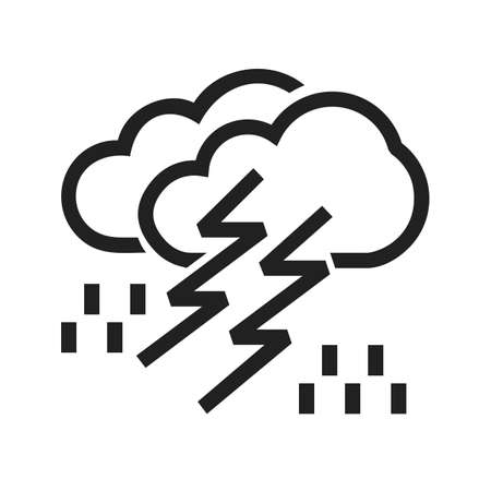 condensation: Thunderstorm vector image to be used in web applications, mobile applications, and print media.