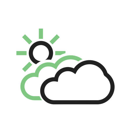Partly Cloudy vector image to be used in web applications, mobile applications, and print media. Illustration