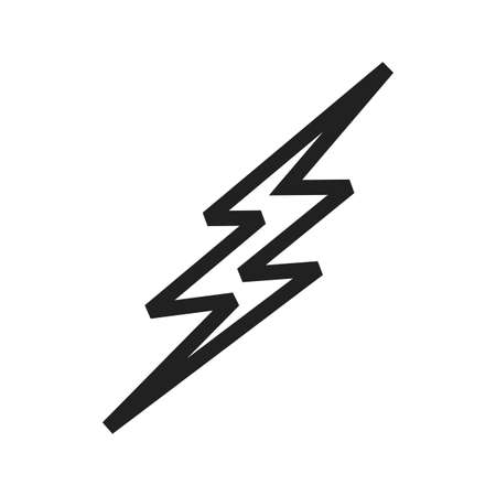 Lightning bolt vector image to be used in web applications, mobile applications, and print media. Illustration