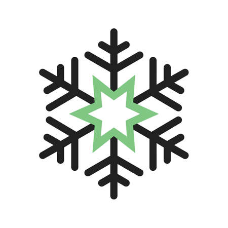 Snowflake vector image to be used in web applications, mobile applications, and print media.