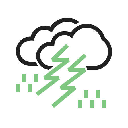 Thunderstorm vector image to be used in web applications, mobile applications, and print media.