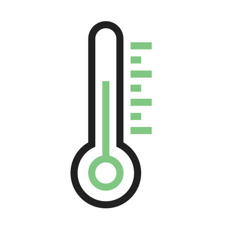 Thermometer vector image to be used in web applications, mobile applications, and print media.