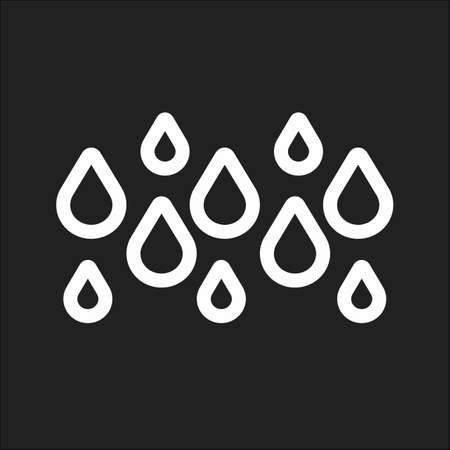 Rainy, rain, water droplets icon vector image. Can also be used for weather, forecast, season, climate, meteorology. Suitable for web apps, mobile apps and print media. Ilustrace