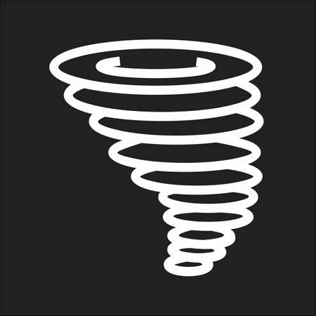 hurricane disaster: Cyclone, tornado, hurricane, typhoon icon vector image. Can also be used for weather, forecast, season, climate, meteorology. Suitable for web apps, mobile apps and print media.