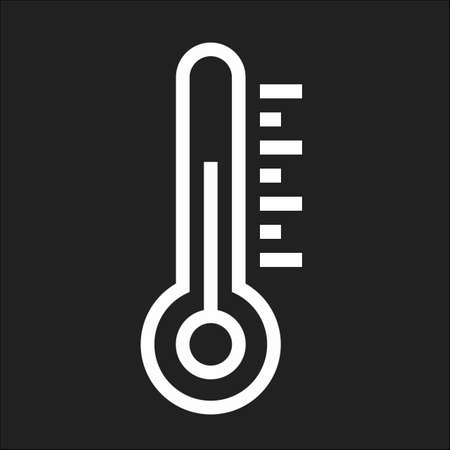 Thermometer, equipment, temperature icon vector image. Can also be used for weather, forecast, season, climate, meteorology. Suitable for web apps, mobile apps and print media. Иллюстрация