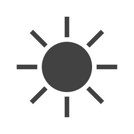 Sun, solar, sunny, sky icon vector image. Can also be used for weather, forecast, season, climate, meteorology. Suitable for web apps, mobile apps and print media.
