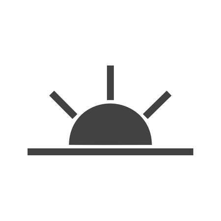 Sun, sunrise, sky icon vector image. Can also be used for weather, forecast, season, climate, meteorology. Suitable for web apps, mobile apps and print media. Illustration