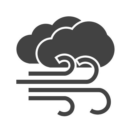 Windy, wind, breeze, cloud, sky icon vector image. Can also be used for weather, forecast, season, climate, meteorology. Suitable for web apps, mobile apps and print media.
