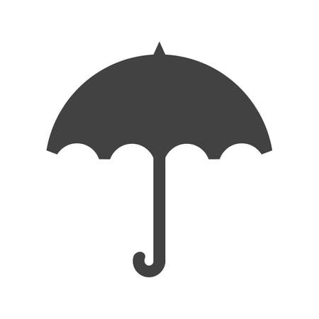 Umbrella, rain, rainy, handle icon vector image. Can also be used for weather, forecast, season, climate, meteorology. Suitable for web apps, mobile apps and print media.