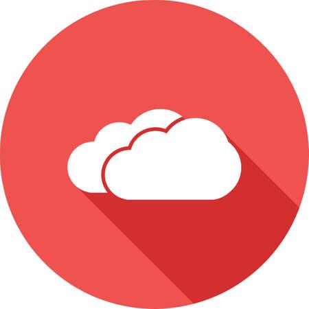 nubes cielo: Las nubes, cielo, imagen de la lluvia icono del vector. Tambi�n se puede utilizar para el clima, la previsi�n, la temporada, el clima, la meteorolog�a. Adecuado para aplicaciones web, aplicaciones m�viles y los medios impresos. Vectores