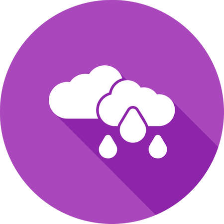 rainy season: Rain, clouds, sky, cloudy icon vector image. Can also be used for weather, forecast, season, climate, meteorology. Suitable for web apps, mobile apps and print media. Illustration