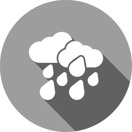 Raindrops, clouds, rain icon vector image. Can also be used for weather, forecast, season, climate, meteorology. Suitable for web apps, mobile apps and print media.