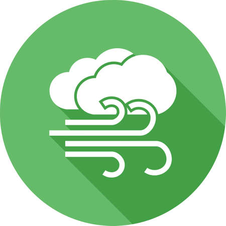 meterology: Windy, wind, breeze, cloud, sky icon vector image. Can also be used for weather, forecast, season, climate, meteorology. Suitable for web apps, mobile apps and print media.