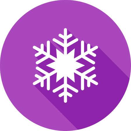 雪片、雪、クリスマス、冬のアイコン ベクトル画像。また、天気予報、季節、気候、気象学のために使用できます。Web アプリケーション、モバイル