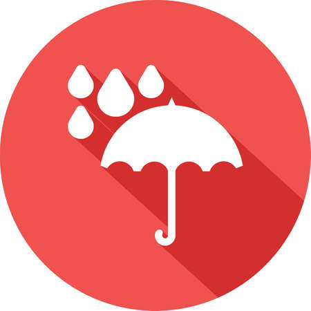 rainy season: Umbrella, rain, rainy, drops icon vector image. Can also be used for weather, forecast, season, climate, meteorology. Suitable for web apps, mobile apps and print media.