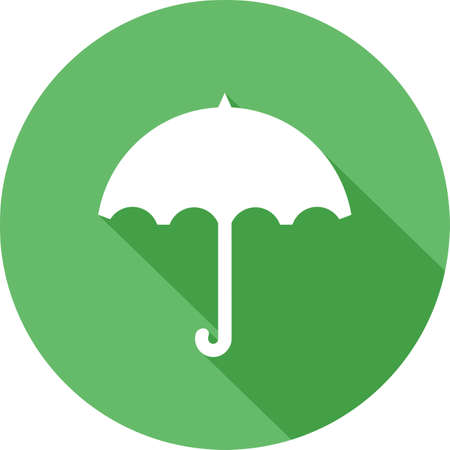 rainy season: Umbrella, rain, rainy, handle icon vector image. Can also be used for weather, forecast, season, climate, meteorology. Suitable for web apps, mobile apps and print media.