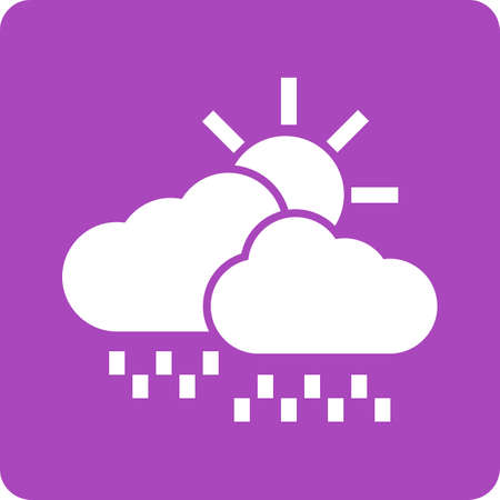drizzle: Clouds, sun, rain icon vector image. Can also be used for weather, forecast, season, climate, meteorology. Suitable for web apps, mobile apps and print media.