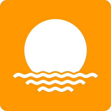 meterology: Sunset, sun, evening icon vector image. Can also be used for weather, forecast, season, climate, meteorology. Suitable for web apps, mobile apps and print media. Illustration