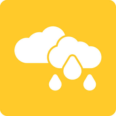 Rain, clouds, sky, cloudy icon vector image. Can also be used for weather, forecast, season, climate, meteorology. Suitable for web apps, mobile apps and print media. Иллюстрация