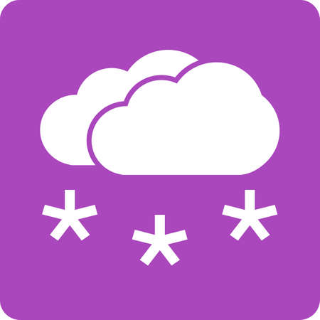 Snow, snowflakes, cloud icon vector image. Can also be used for weather, forecast, season, climate, meteorology. Suitable for web apps, mobile apps and print media.