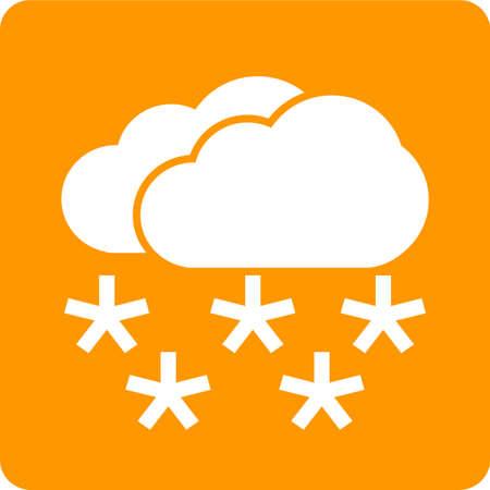 雪、雪、雲、雪のアイコン ベクトル画像。また、天気予報、季節、気候、気象学のために使用できます。Web アプリケーション、モバイル アプリケ  イラスト・ベクター素材