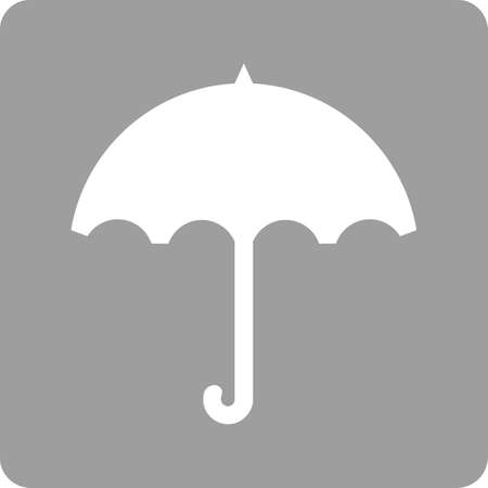 autmn: Umbrella, rain, rainy, handle icon vector image. Can also be used for weather, forecast, season, climate, meteorology. Suitable for web apps, mobile apps and print media.
