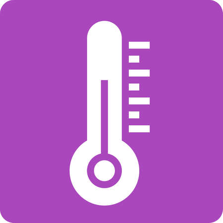 Thermometer, equipment, temperature icon vector image. Can also be used for weather, forecast, season, climate, meteorology. Suitable for web apps, mobile apps and print media. Illustration