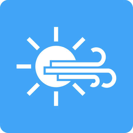 Sunny, windy, sky icon vector image. Can also be used for weather, forecast, season, climate, meteorology. Suitable for web apps, mobile apps and print media. Illustration