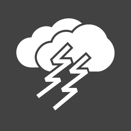 Thunder, cloud, lightning, storm icon vector image. Can also be used for weather, forecast, season, climate, meteorology. Suitable for web apps, mobile apps and print media.