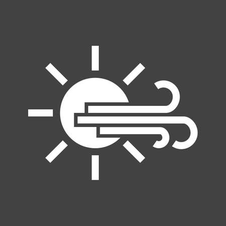 meterology: Sunny, windy, sky icon vector image. Can also be used for weather, forecast, season, climate, meteorology. Suitable for web apps, mobile apps and print media. Illustration