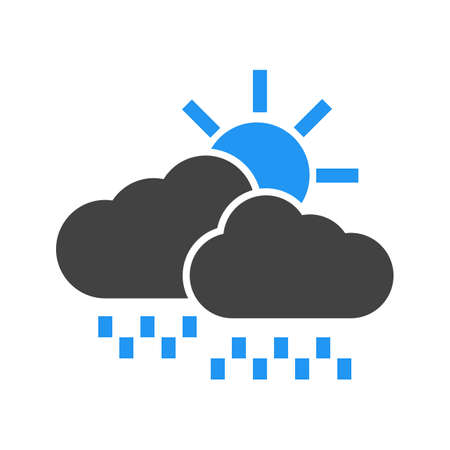 Clouds, sun, rain icon vector image. Can also be used for weather, forecast, season, climate, meteorology. Suitable for web apps, mobile apps and print media.