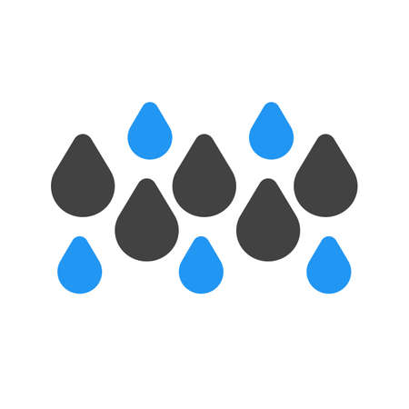 Rainy, rain, water droplets icon vector image. Can also be used for weather, forecast, season, climate, meteorology. Suitable for web apps, mobile apps and print media. Ilustração