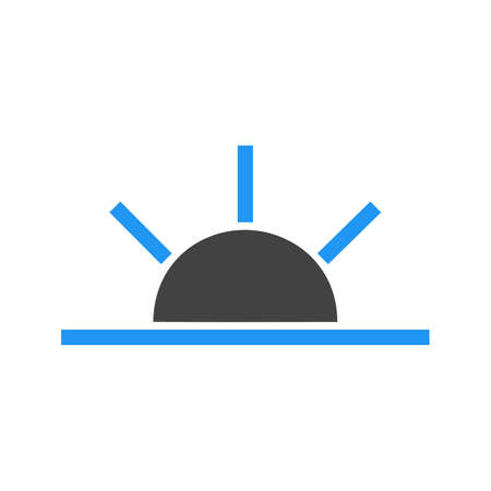 Sun, sunrise, sky icon vector image. Can also be used for weather, forecast, season, climate, meteorology. Suitable for web apps, mobile apps and print media. Иллюстрация