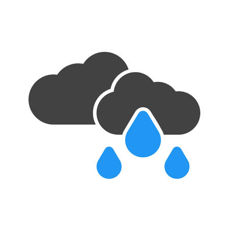 scenics: Rain, clouds, sky, cloudy icon vector image. Can also be used for weather, forecast, season, climate, meteorology. Suitable for web apps, mobile apps and print media. Illustration