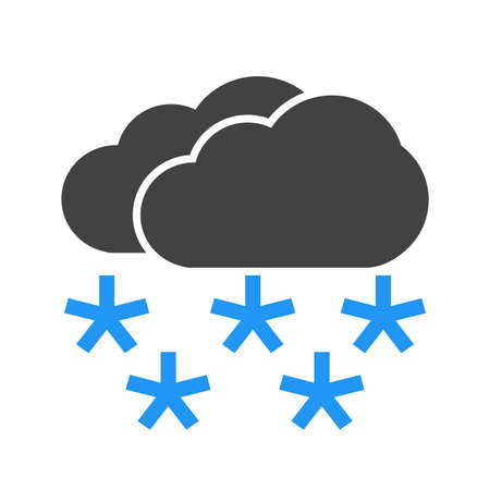 Snow, snowflakes, clouds, snowing icon vector image. Can also be used for weather, forecast, season, climate, meteorology. Suitable for web apps, mobile apps and print media.